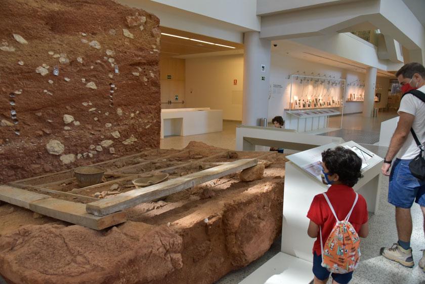 Recreación de una excavación arqueológica
